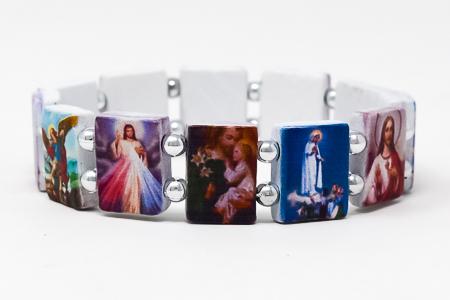 All Saints Plastic Medals Bracelet.