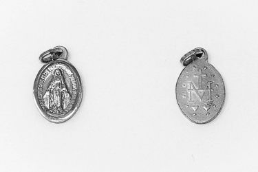 Silver Miraculous Pendant/Medal