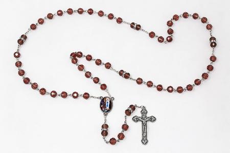 Amethyst Crystal Rosary Beads.
