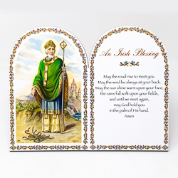 An Irish Blessing Wooden Plaque & Stand.