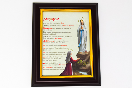 Apparition Picture with Magnificat Prayer.