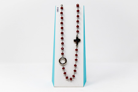 3 Decade Red Rosary�Necklace.