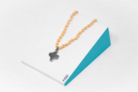 White Peach Cross Bracelet.