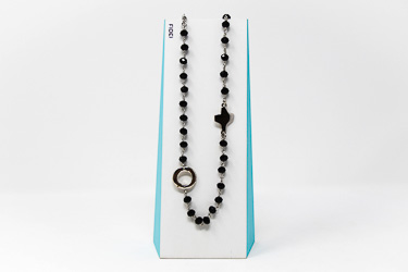3 Decade Black Rosary�Necklace.