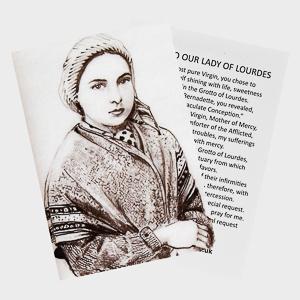 Bernadette Soubirous Prayer Card..