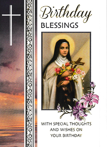 Birthday Card St Therese.