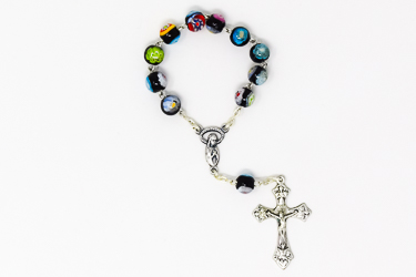 One Decade Murano Glass Rosary