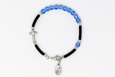 Blue Rosary Bracelet.