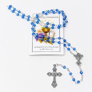 Boys Rosary and Prayer Card.