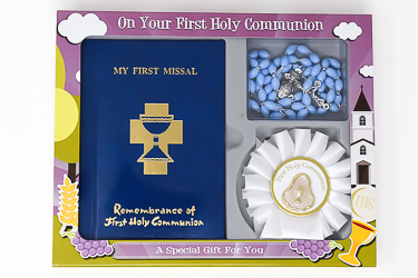 First Holy Communion Rosette Gift Set.
