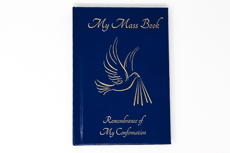 Blue Confirmation Mass Book.