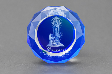 Lourdes Crystal Paperweight.