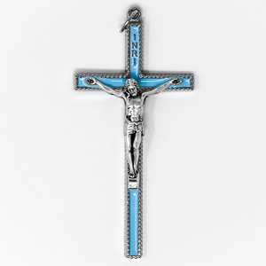Enamel Metal Crucifix.