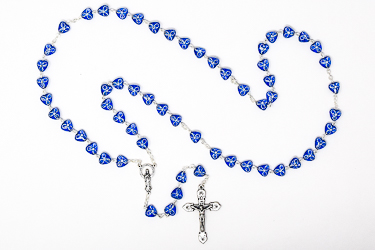 Blue Virgin Mary Rosary.