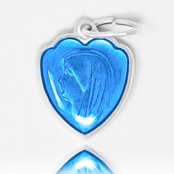 Blue Heart Our Lady of Lourdes Medal.
