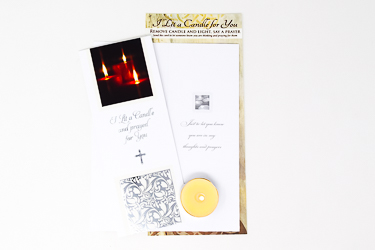 Boxed I lit A candle card with Candle.