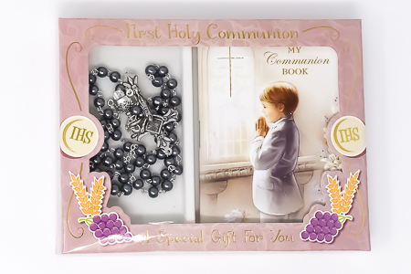 Boy's Communion Rosary & Prayer Book..