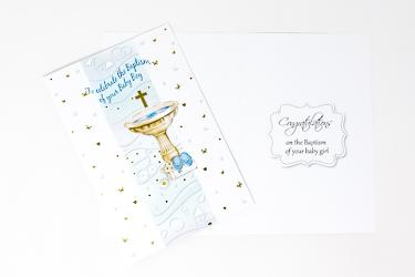 Boys Baptism Card.