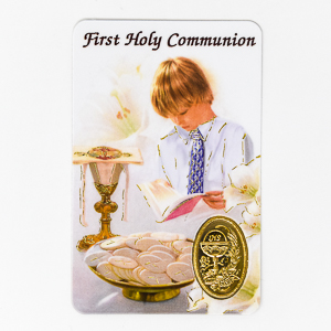 Boy's Holy Communion Prayer Card.