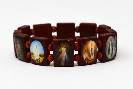 Wooden All Saints Bracelet.