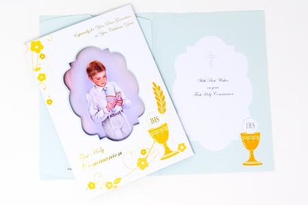 Communion Card for a Girl - Granddaughter