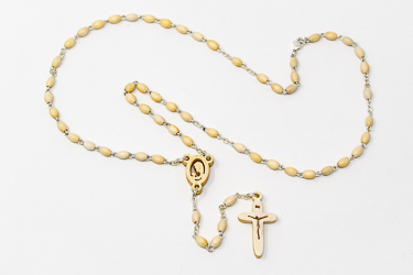 Hand Carved Virgin Mary Rosary beads