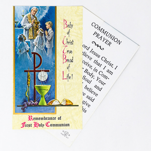 Chalice Communion Prayer Card.