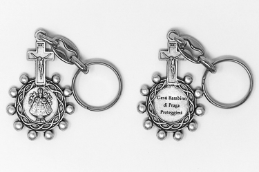 Child of Prague Rosary Key Ring.