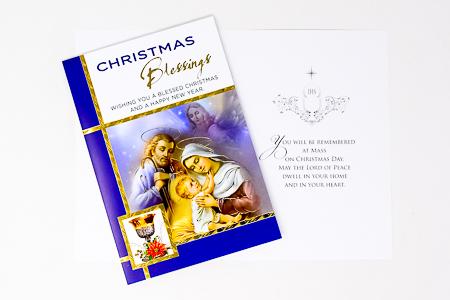 Christmas Priest Card.