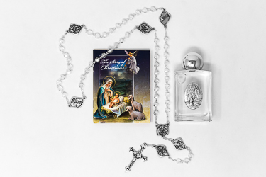 Christmas Rosary & Book Gift Set.