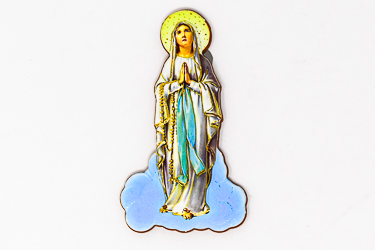 Colour Our Lady of Lourdes Magnet.