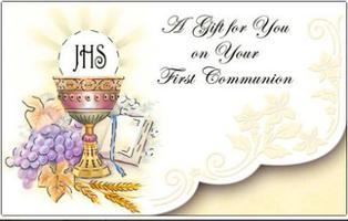 First Holy Communion Money Gift Card.