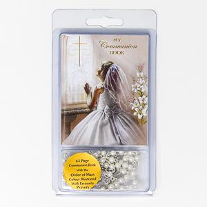 Girls Rosary Beads & Prayer Book.