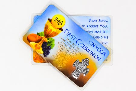 First Holy Communion Prayer Card.
