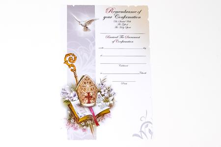 Souvenir of Confirmation Certificate.