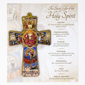 Confirmation Cross - 7 Gifts of the Holy Spirit