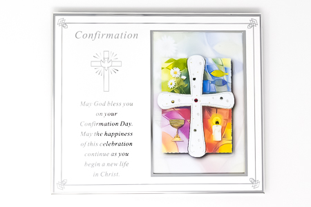 Confirmation Metal Photo Frame - Silver Plated.