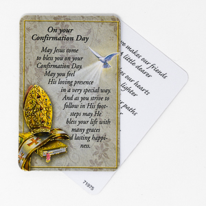 laminated Confirmation Card.