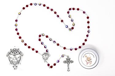 Black Crystal Confirmation Rosary.