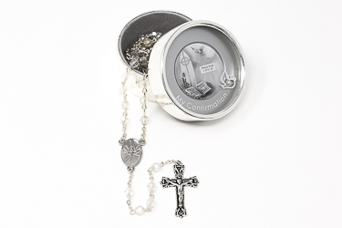 Confirmation Silver Plated Photo Box.