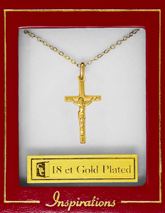 Gold Plated Crucifix Necklace.