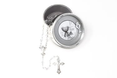 Communion Silver Plated Photo Box.