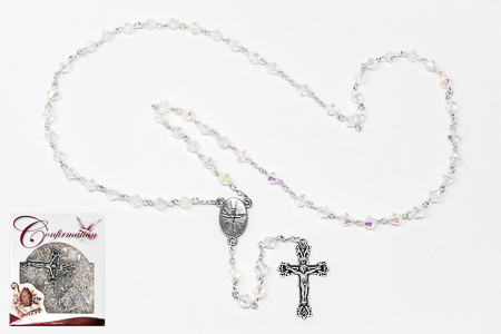 Black Crystal Confirmation Rosary.
