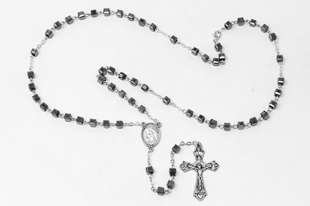 Silver Rosary Beads