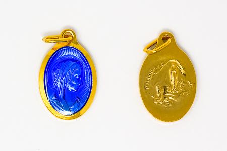Oval Virgin Mary Medal.