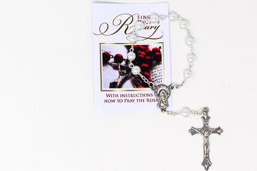 Single Decade Pearl Rosary.