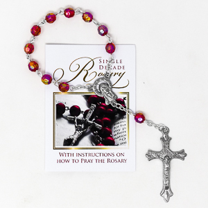 Single Decade Ruby Rosary.