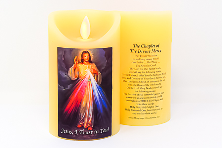 Real Wax Divine Mercy Candle.