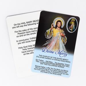 Divine Mercy Prayer Card.