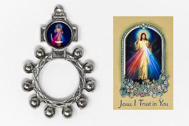 Divine Mercy Leaflet & Rosary Ring.